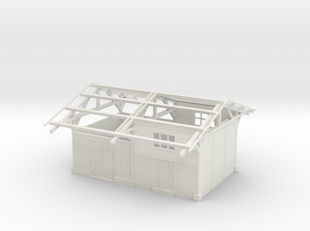 Gare TPT / TPT station building 00 scale 1:76 in White Natural Versatile Plastic
