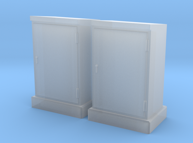 HO 2 Relay Cabinets #3 in Smooth Fine Detail Plastic