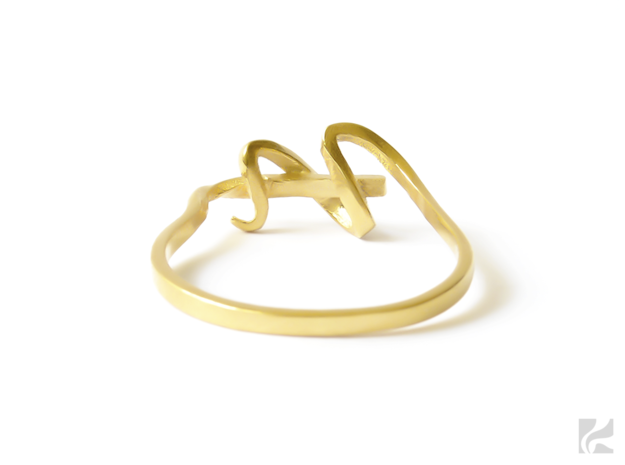Curl Ring in 14k Gold Plated: 6.5 / 52.75