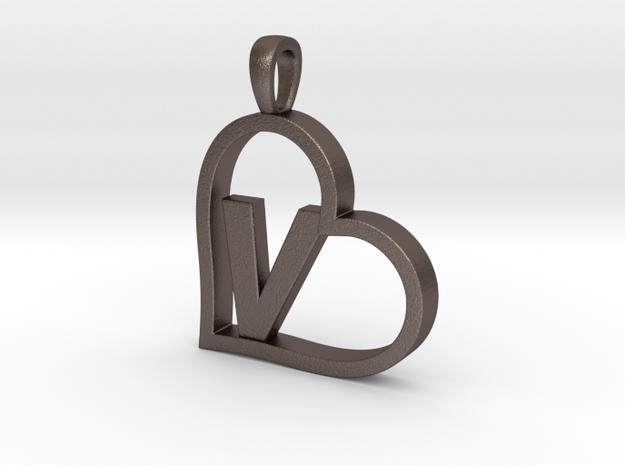 Alpha Heart 'V' Series 1 in Stainless Steel