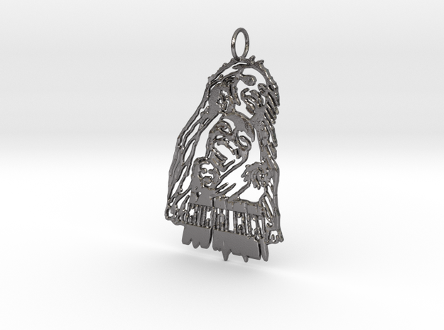 Bob Marley Pendant in Polished Nickel Steel