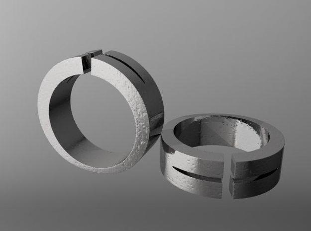 Split Ring 3d printed Description