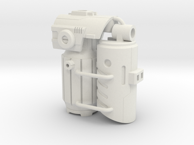 Fusion Cannon Mk.V in White Strong & Flexible