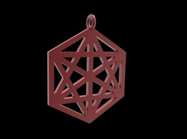 Hexagram 40mm 2mm square 3d printed Description