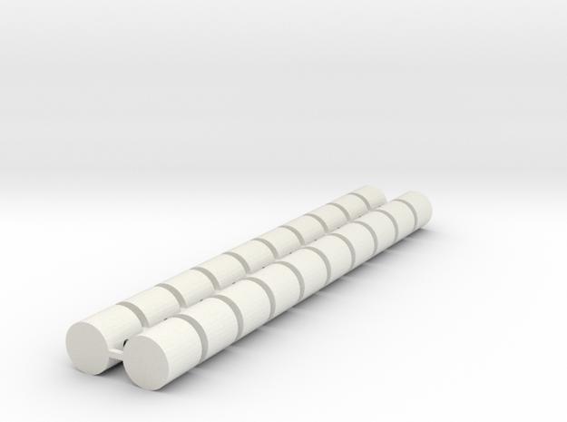 Strohballen Rundballen klein 20er Set 1:120 in White Natural Versatile Plastic