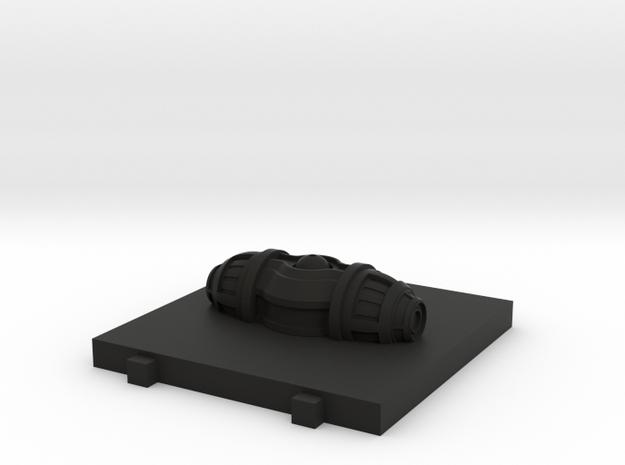 Seismic Charge  - 3D  in Black Natural Versatile Plastic