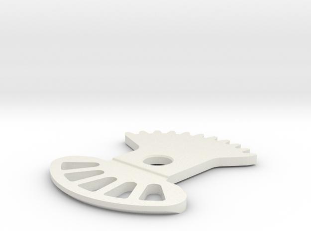 GearChangeQuadrant in White Natural Versatile Plastic