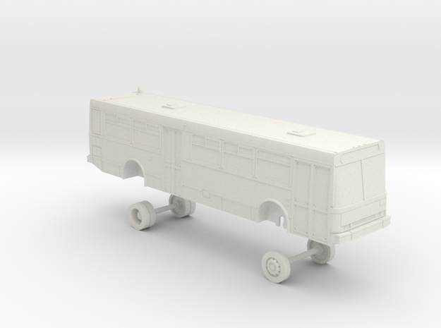 HO Scale Bus NABI 416 AC Transit 2900s in White Natural Versatile Plastic