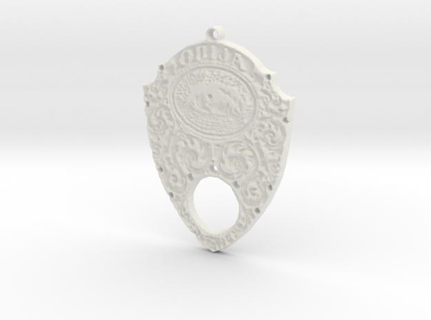 Gothic Ouija Pendant in White Natural Versatile Plastic