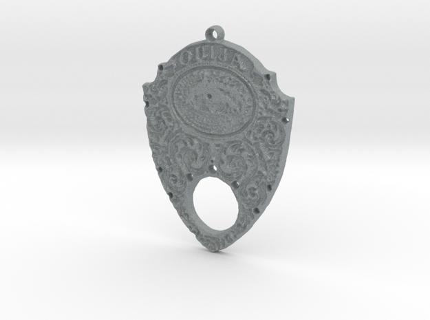 Gothic Ouija Pendant in Polished Metallic Plastic