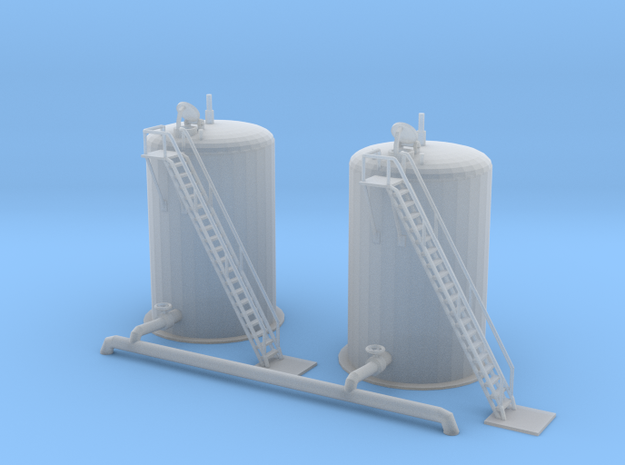 Water Fill Station Tanks Z scale in Smooth Fine Detail Plastic