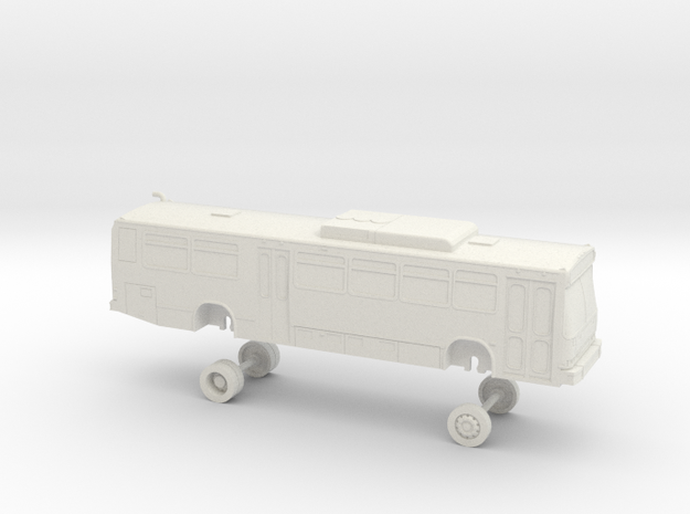 HO Scale Bus Neoplan AN440 ABQ Ride 300s in White Natural Versatile Plastic