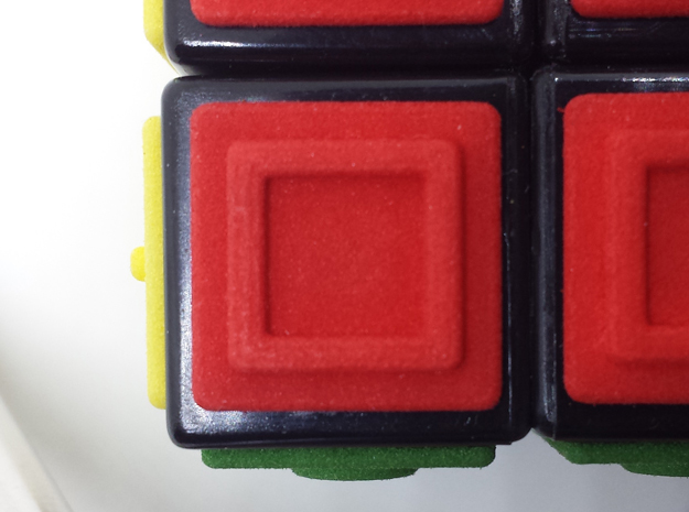 Red replacement tile (Rubik's Blind Cube) in Red Processed Versatile Plastic
