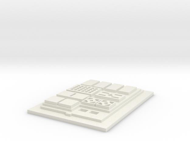 Commpad Config 2 Flat in White Natural Versatile Plastic