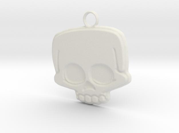 Funny Skull in White Natural Versatile Plastic
