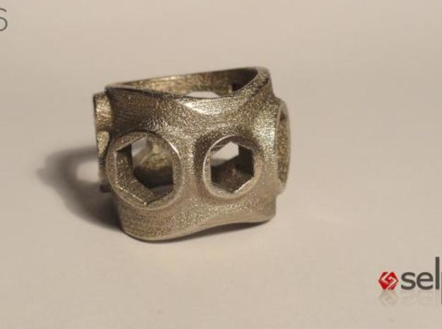 1086 ToolRing - size 8 (18,19 mm) 3d printed 1086 ToolRing - Primal Finish A