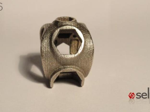 1086 ToolRing - size 8 (18,19 mm) 3d printed 1086 ToolRing - Primal Finish B