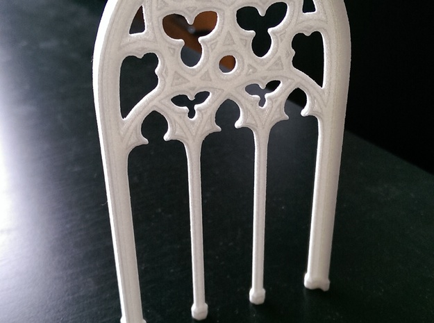 Gothic Window in White Natural Versatile Plastic