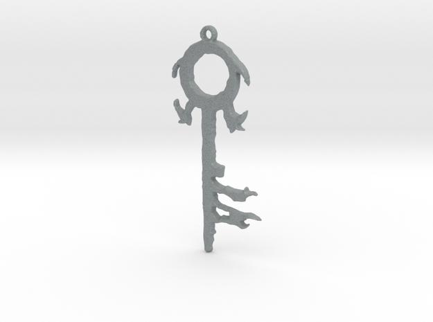 The Silver Key Pendant in Polished Metallic Plastic