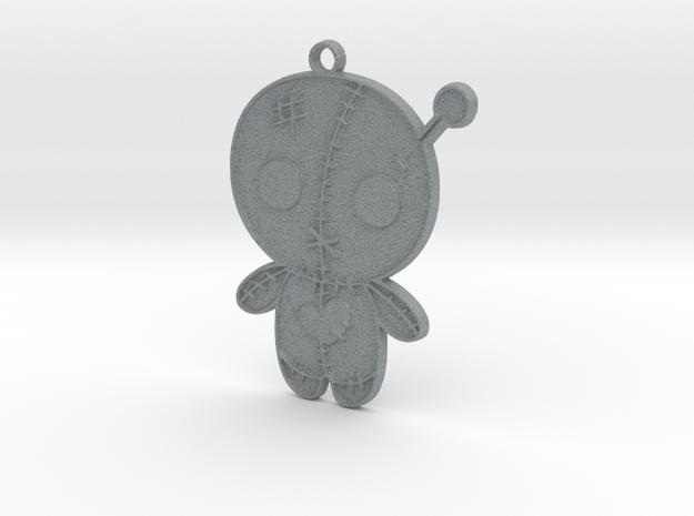 Voodoo Doll Pendant in Polished Metallic Plastic