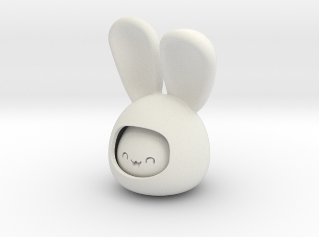 happy rabbit in White Natural Versatile Plastic