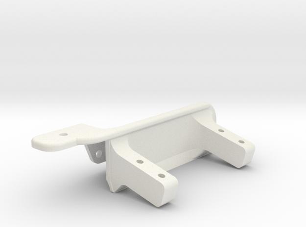 Driver side differential - Support servo AR60-V4 in White Natural Versatile Plastic