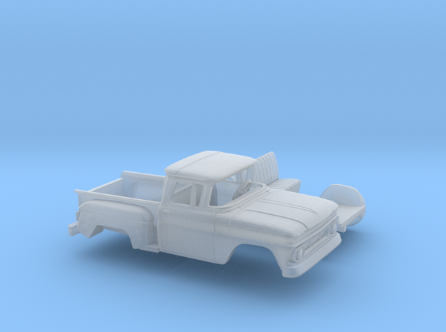 1/160 1962 Chevrolet C-10 Stepside Kit in Smooth Fine Detail Plastic