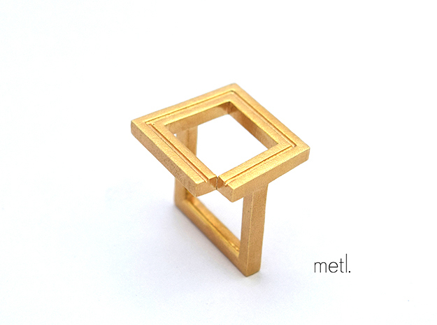 Perfectly Imperfect Ring #2 in Natural Brass