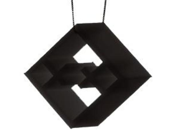 Tilted Mondrian Pendant 3d printed