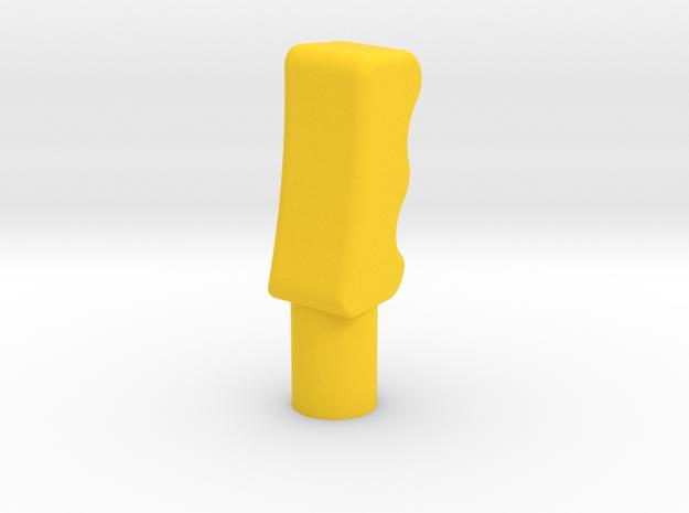 Mosquito Airscrew lever handles in Yellow Processed Versatile Plastic