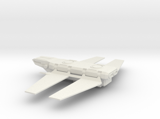 Zeta Class Cargo Shuttle in White Natural Versatile Plastic