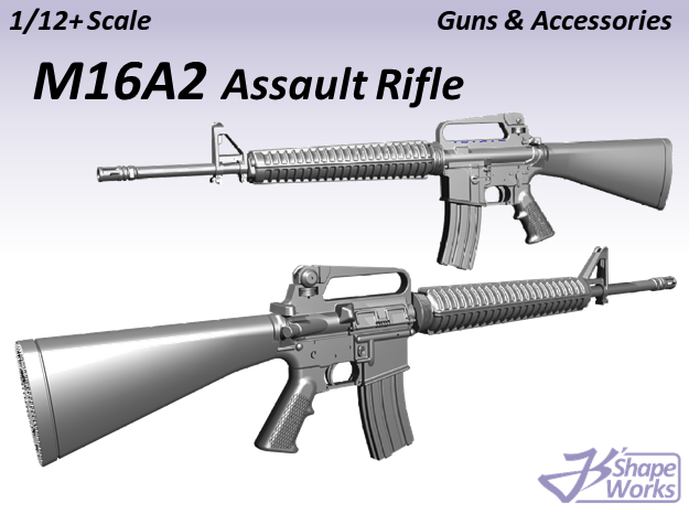 1/9 M16A2 Assault Rifle in Smooth Fine Detail Plastic