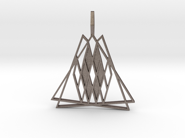 The Trizardium in Polished Bronzed Silver Steel