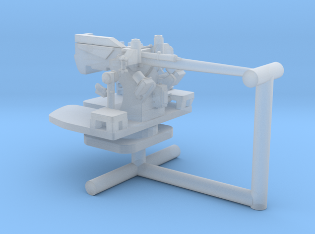 1/400 USN 5 inch 25 Cal (12.7 cm) aa gun in Smooth Fine Detail Plastic
