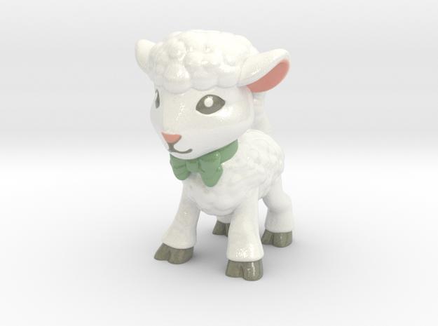 Spring Lamb - Full Color in Glossy Full Color Sandstone