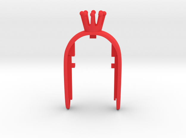 CROWN #23 QUEEN KEY FOB in Red Processed Versatile Plastic