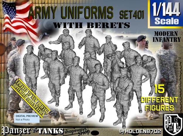 1/144 Modern Uniforms Berets Set401
