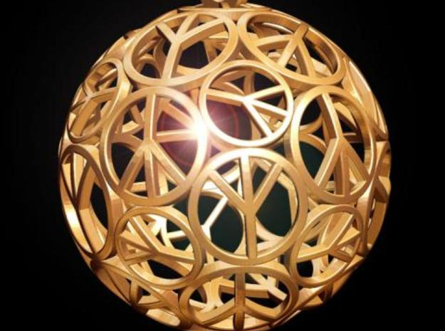 Peace Ball in Stainless Steel