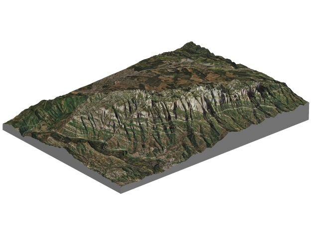 Montserrat Mountains Map: A4 Size in Full Color Sandstone