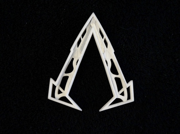 "Ammnra ""A"" Hidden Symbol/Belt Buckle in White Natural Versatile Plastic"