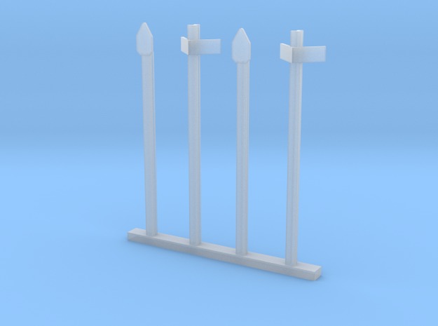 HO Half kM and kM Posts - Old Rail Type in Smooth Fine Detail Plastic