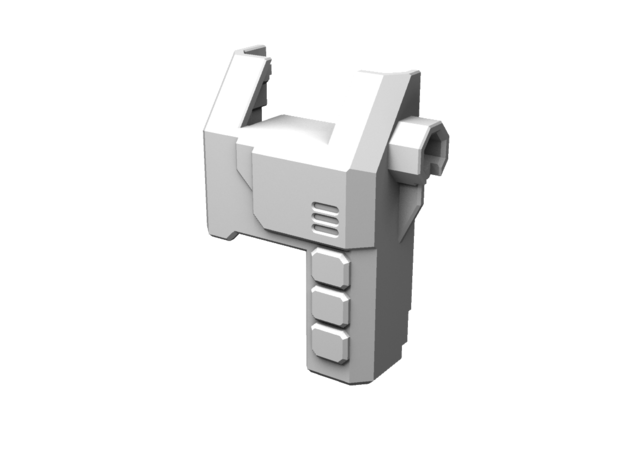 TR Overlord Forearm Adaptor (Left) in White Strong & Flexible Polished
