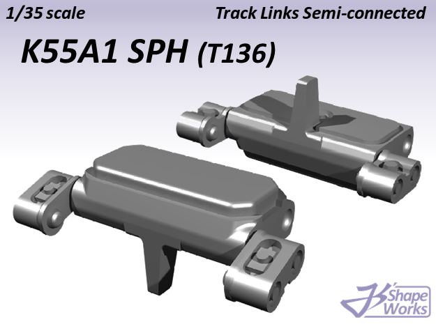 1/35 K55A1 SPH Track Links semi-connected