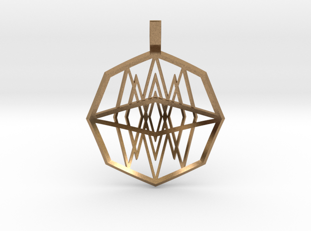 Mirrored Diamonds (Domed) in Natural Brass