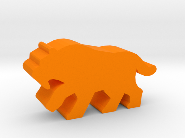 Game Piece, Sabertoothed Tiger in Orange Processed Versatile Plastic