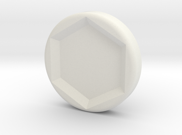 beastuniversalbutton in White Natural Versatile Plastic