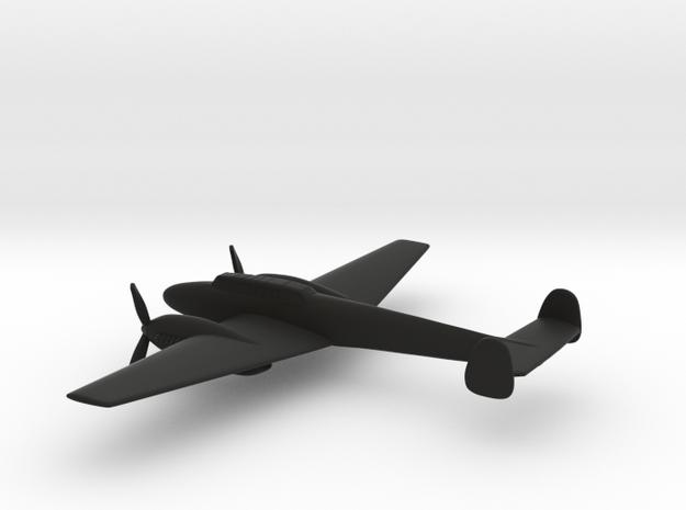 Messerschmitt Bf 110 (w/o landing gears) in Black Natural Versatile Plastic: 1:160 - N