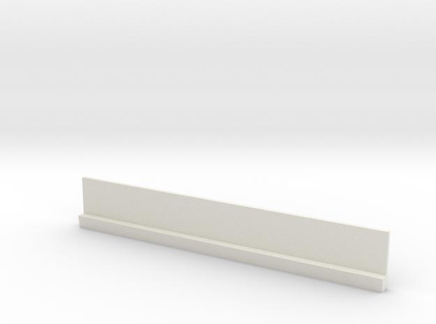 Profil 100mm Waggon-Sitzbank einfach hoch WSF 1:12 in White Natural Versatile Plastic