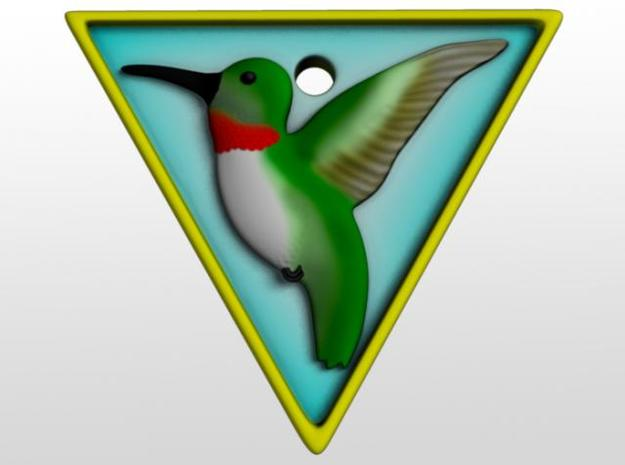 Hummingbird Pendant 3d printed Front