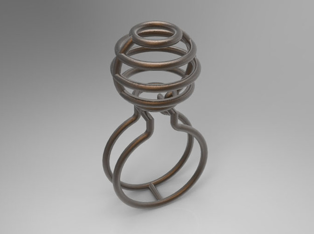 BALL RING - SIZE 8 3d printed
